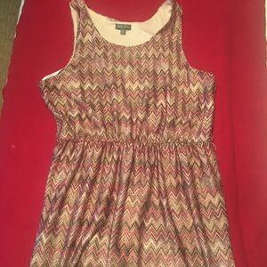 Ladies top or short dress elastic waist stylish